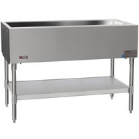 Eagle Group SCP-3 48 inch Ice-Cooled Cold Food Table with Stainless Steel Undershelf and Open Base