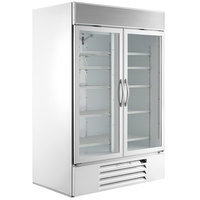 Beverage-Air MMF49HC-1-WS MarketMax 52 inch White Glass Door Merchandising Freezer with Stainless Steel Interior