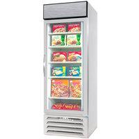 Beverage-Air MMF27HC-1-WS MarketMax 30 inch White Glass Door Merchandising Freezer with Stainless Steel Interior