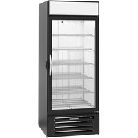 Beverage-Air MMF27HC-1-B-IQ-18 MarketMax 30 inch Black Glass Door Merchandiser Freezer with Left-Hinged Door and Electronic Smart Door Lock - 26.57 Cu. Ft.