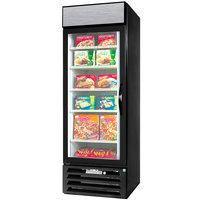 Beverage-Air MMF23HC-1-BS-18 MarketMax 27 inch Black Glass Door Merchandising Freezer with Left-Hinged Door and Stainless Steel Interior