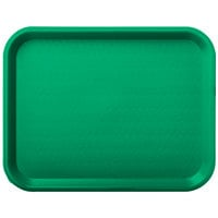 Carlisle CT101409 Cafe 10 inch x 14 inch Green Standard Plastic Fast Food Tray