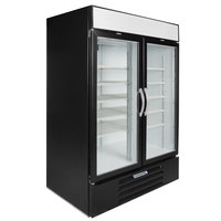 Beverage-Air MMF49HC-1-BS MarketMax 52 inch Black Glass Door Merchandising Freezer with Stainless Steel Interior