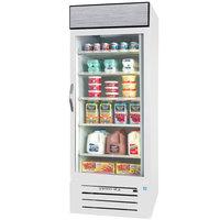 Beverage-Air MMR27HC-1-WS MarketMax 30 inch White Glass Door Merchandiser Refrigerator with Stainless Steel Interior