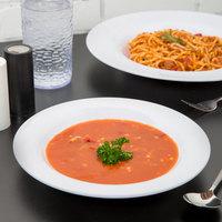 Carlisle 3303402 Sierrus 9 1/4 inch White Melamine Pasta / Soup / Salad Bowl - 24/Case