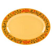 GET OP-621-VN Venetian 21 inch x 15 inch Melamine Oval Platter - 12/Pack