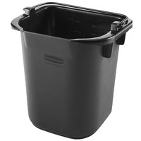 Rubbermaid 1857378 5 Qt. Black Heavy Duty Pail