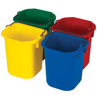 Rubbermaid FG9T83010000 5 Qt. Heavy Duty Pails in Yellow, Red, Blue, and Green - 4/Pack