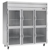 Beverage-Air HR3HC-1HG Horizon Series 78 inch Top Mounted Half Glass Door Reach-In Refrigerator