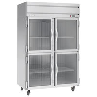 Beverage-Air HFP2HC-1HG Horizon Series 52 inch Glass Half Door Reach-In Freezer