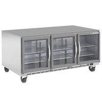 Beverage-Air UCR72AHC-25 72 inch Glass Door Undercounter Refrigerator