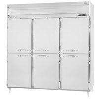 Beverage-Air PRD3HC-1AHS 78 inch Stainless Steel Solid Half Door Pass-Through Refrigerator