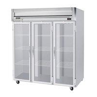 Beverage-Air HF3HC-1G Horizon Series 78 inch Top Mounted Glass Door Reach-In Freezer