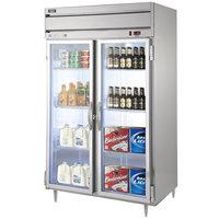 Beverage-Air HRPS2HC-1G Horizon Series 52 inch Glass Door Reach-In Refrigerator