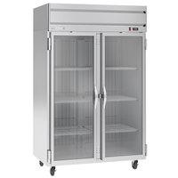 Beverage-Air HFP2HC-1G Horizon Series 52 inch Glass Door Reach-In Freezer