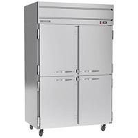 Beverage-Air HR2HC-1HS Horizon Series 52 inch Top Mounted Half Door Reach-In Refrigerator