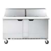 Beverage-Air SPE60-24M 60 inch 2 Door Mega Top Refrigerated Sandwich Prep Table