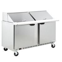Beverage-Air SPE60-24M 60 inch 2 Door Mega Top Refrigerated Sandwich Prep Table