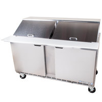 Beverage Air SPE60-24M 60 inch 2 Door Mega Top Refrigerated Sandwich Prep Table