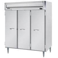 Beverage-Air HRPS3HC-1S Horizon Series 78 inch Stainless Steel Reach-In Refrigerator