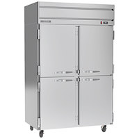 Beverage-Air HRP2HC-1HS Horizon Series 52 inch Half Door Reach-In Refrigerator