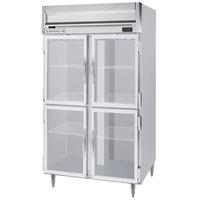 Beverage-Air HRPS2HC-1HG Horizon Series 52 inch Glass Half Door Reach-In Refrigerator