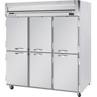 Beverage-Air HRP3HC-1HS Horizon Series 78 inch Half Door Reach-In Refrigerator