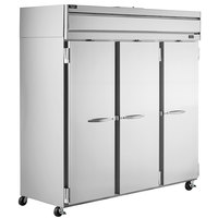 Beverage-Air HR3HC-1S Horizon Series 78 inch Top Mounted Solid Door Reach-In Refrigerator