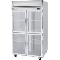 Beverage-Air HRP2HC-1HG Horizon Series 52 inch Glass Half Door Reach-In Refrigerator