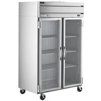 Beverage-Air HR2HC-1G Horizon Series 52 inch Top Mounted Glass Door Reach-In Refrigerator