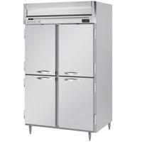 Beverage-Air HRPS2HC-1HS Horizon Series 52 inch Half Door Reach-In Refrigerator