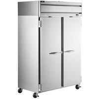 Beverage-Air HRPS2HC-1S Horizon Series 52 inch Solid Door All Stainless Steel Reach-In Refrigerator