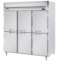 Beverage-Air HRPS3HC-1HS Horizon Series 78 inch Stainless Steel Half Door Reach-In Refrigerator