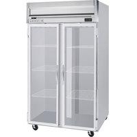 Beverage-Air HRP2HC-1G Horizon Series 52 inch Glass Door Reach-In Refrigerator