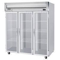 Beverage-Air HFP3HC-1G Horizon Series 78 inch Glass Door Reach-In Freezer