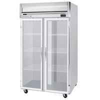 Beverage-Air HF2HC-1G Horizon Series 52 inch Top Mounted Glass Door Reach-In Freezer