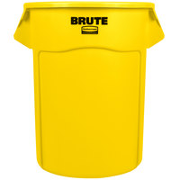 Rubbermaid FG265500YEL BRUTE Yellow 55 Gallon Round Trash Can
