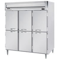 Beverage-Air HFPS3HC-1HS Horizon Series 78 inch Stainless Steel Half Door Reach-In Freezer