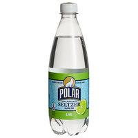 Polar 20 oz. 100% Natural Lime Seltzer - 24/Case