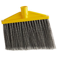 Rubbermaid FG639700GRAY 10 1/2 inch Angled Broom Head with Gray Flagged Bristles