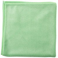 Unger MF400 SmartColor MicroWipe 16 inch x 15 inch Green Heavy-Duty Microfiber Cleaning Cloth