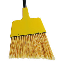 Continental E507012 12 inch Angled Broom with Yellow Flagged Bristles and 48 inch Handle