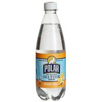 Polar 20 oz. 100% Natural Orange Vanilla Seltzer - 24/Case