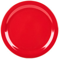 Carlisle 4350005 Dallas Ware 10 1/4 inch Red Melamine Plate - 48 / Case