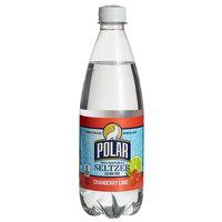 Polar 20 oz. 100% Natural Cranberry Lime Seltzer - 24/Case