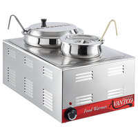 Avantco W50 12 inch x 20 inch Full Size Electric Countertop Food Warmer / Soup Station with 4 Qt. and 11 Qt. Inset Pots - 120V, 1200W