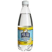 Polar 20 oz. 100% Natural Lemon Seltzer - 24/Case