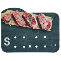 Butcher / Deli Meat Molded Number Price Tag (lb.)   - 25/Pack