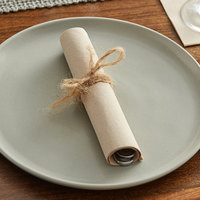 Hoffmaster 200114 FashnPoint 16 inch x 16 inch Natural Dinner Napkin, 1/4 Fold - 1200/Case