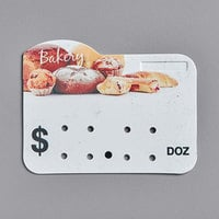 Bakery Molded Number Price Tag (Dz.) - 25/Pack